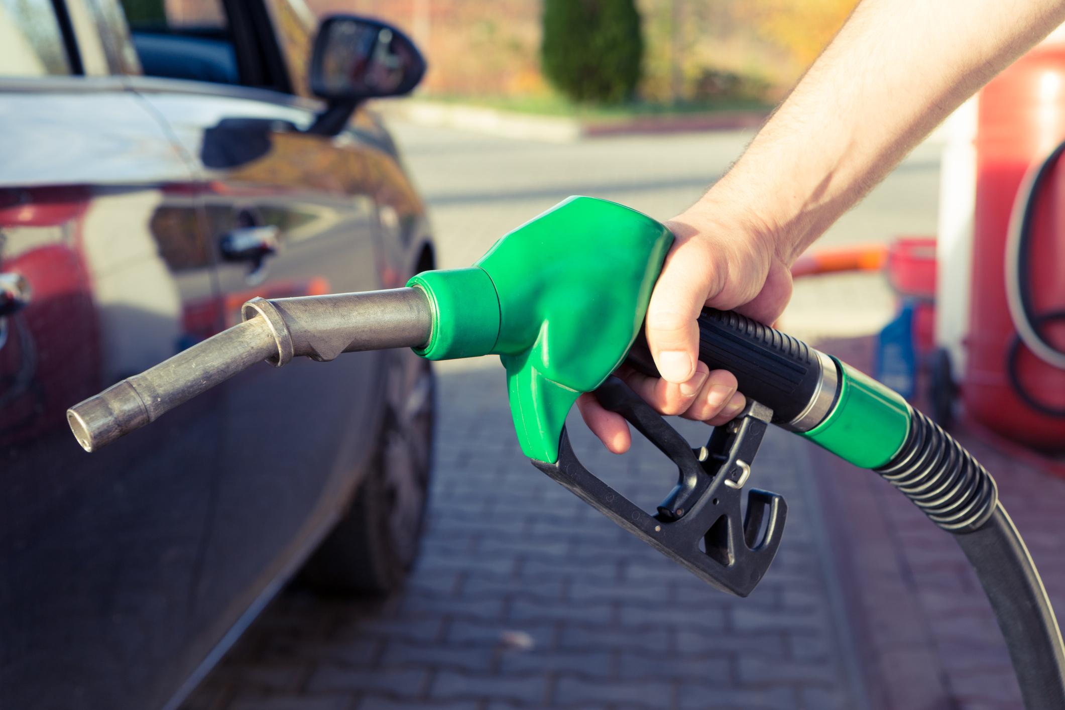 Man Holding Biodiesel Pump