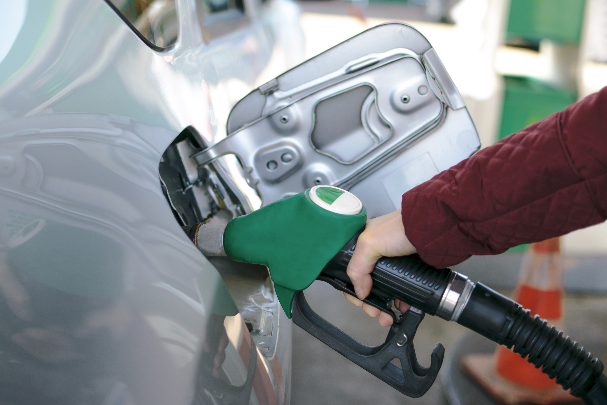 Person Fueling Their Car With Biodiesel
