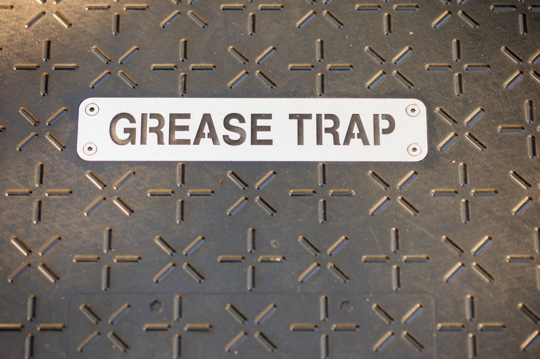 Grease Trap Sign
