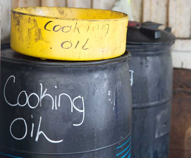 Used Cooking Oil Collection Container.