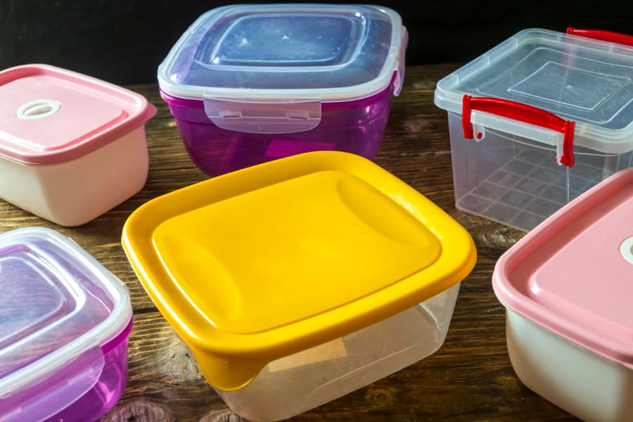 Group Of Empty Food Containers