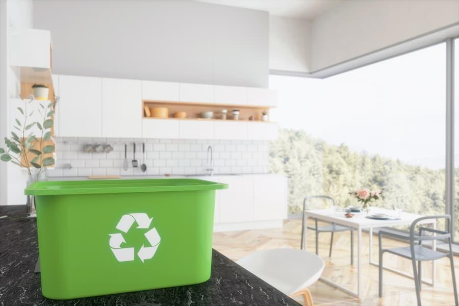 Recycling Bin In Kitchen
