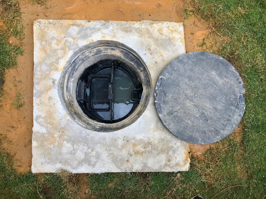 Open Outdoor Grease Trap